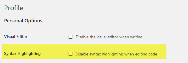 How to Disable WordPress Syntax Highlighting