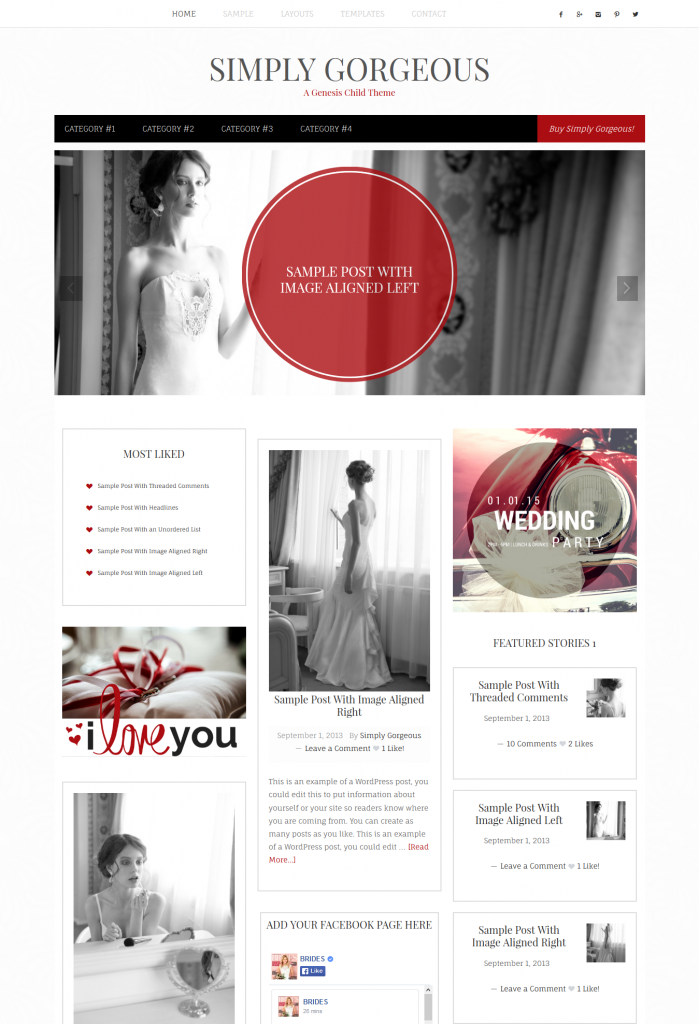 Introducing Simply Gorgeous – A Free Feminine Child Theme