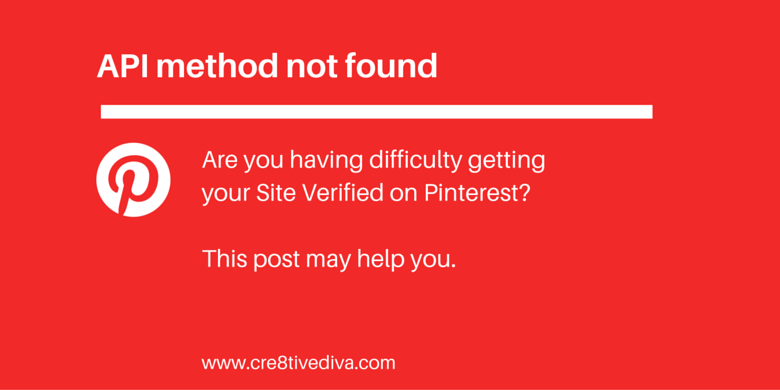 Pinterest - API Method Not Found