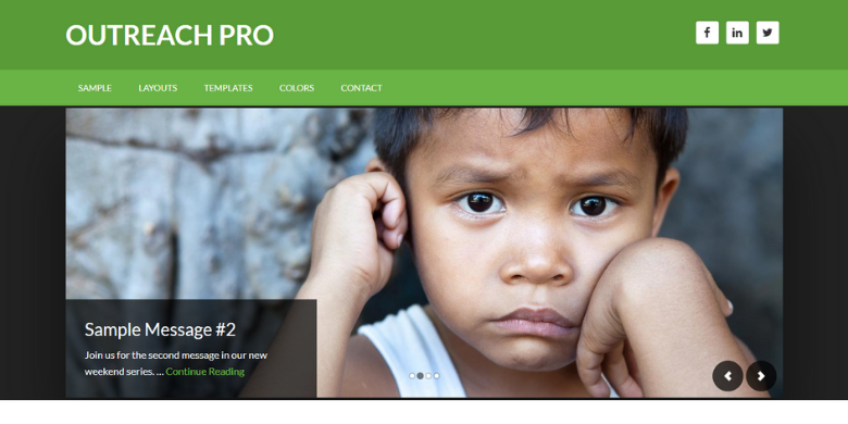 Outreach Pro: Display Sub-Footer Left and Sub-Footer Right Home Page Only