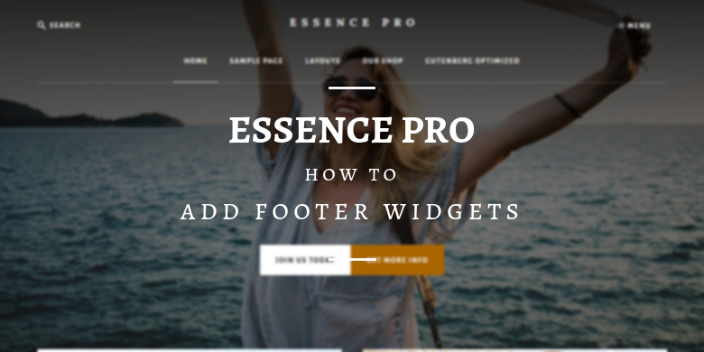 Essence Pro: Add Footer Widgets